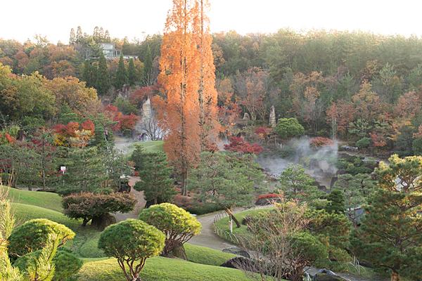 日本庭園俯瞰