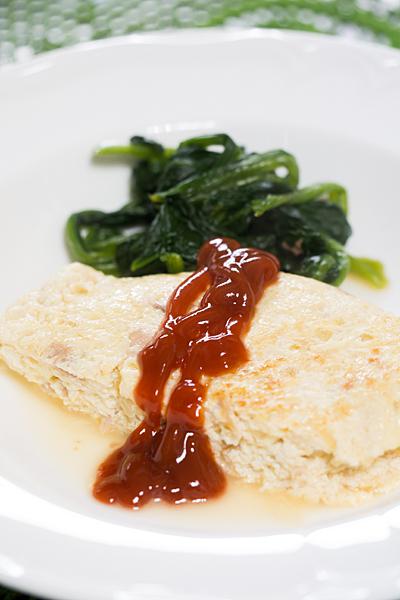 豆腐オムレツ