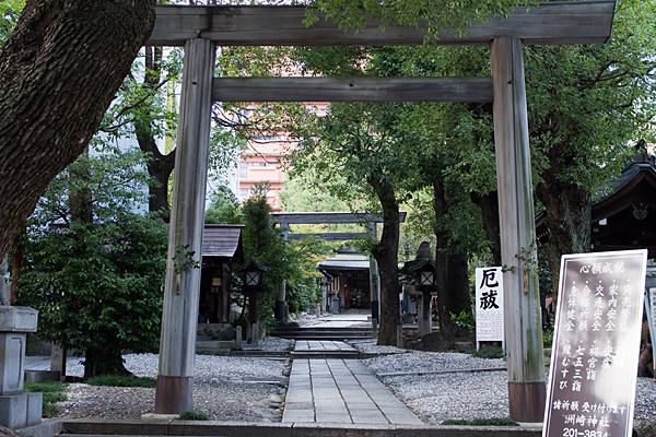 洲崎神社入り口