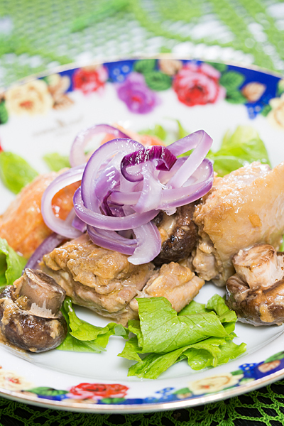 鶏肉とマッシュルーム