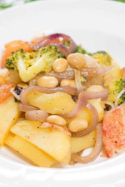 ジャガイモと温野菜