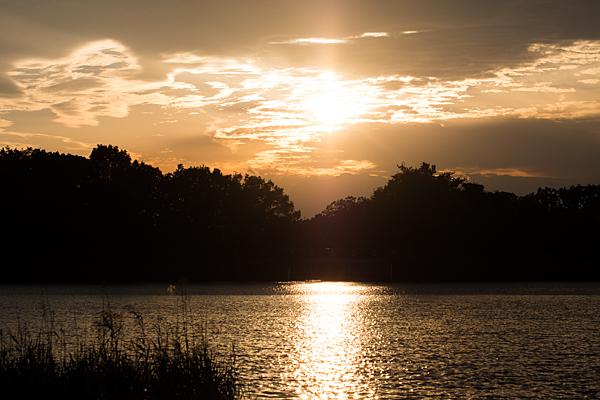 緑ヶ池夕焼け