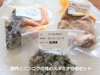 わんまいる 旬の手作りおかずセット(健幸ディナー)/豚肉とニンニクの芽のスタミナ炒めセット