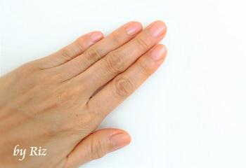 プロヴィダ オーガニックネイル集中ケア使用後の手