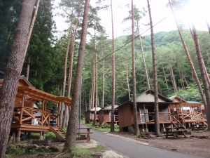 今日はここをキャンプ地とする 紅葉台キャンプ場 :西湖