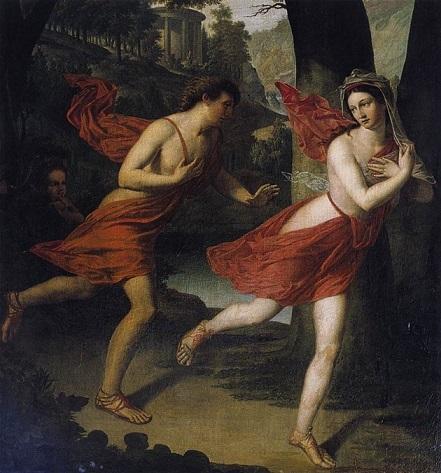 ロバート・ルフェーヴル 『アポロンから逃げるダフネ』(1810年頃)