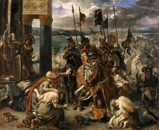 ウジェーヌ・ドラクロワ『十字軍のコンスタンティノープルへの入城』1840年作