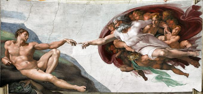 ミケランジェロ・ブオナローティ『アダムの創造』(1508年 - 1512年)