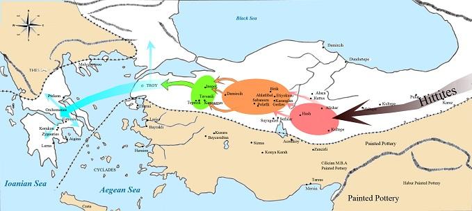 紀元前1900年ごろのヒッタイト人大移動