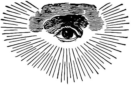 フリーメイソンリーが用いるシンボルの一つ、プロビデンスの目。
