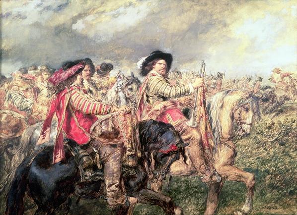 ネイズビーの戦い後の風景(1645年)