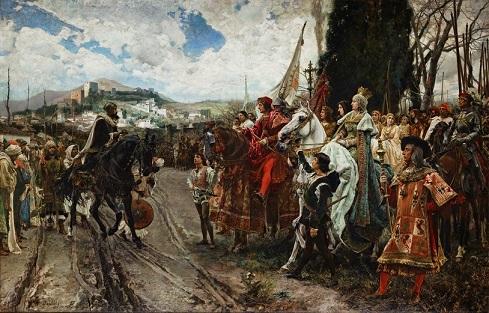 グラナダの開城を描いた油絵