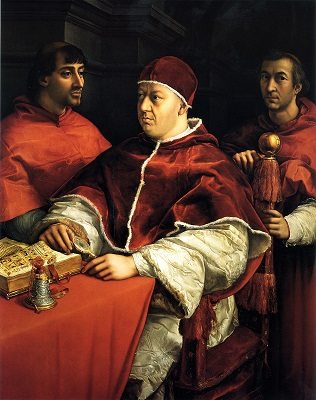 ラファエロ・サンティ『レオ10世と枢機卿達』