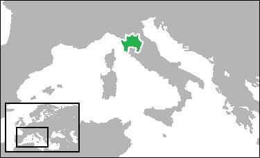 フィレンツェ共和国の版図(1494年)