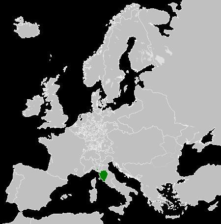 トスカーナ大公国の領域(1789年)