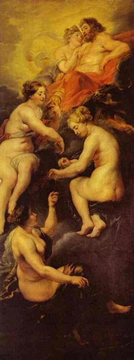 ピーテル・パウル・ルーベンス 『マリー・ド・メディシスの生涯』(1622年~1625年)より「マリー・ド・メディシスの運命」