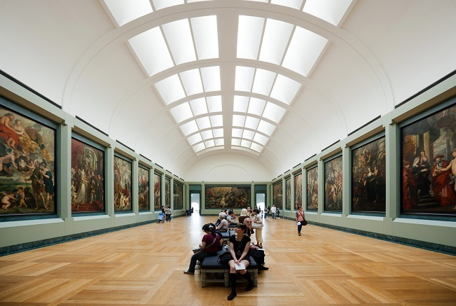 ルーヴル美術館リシュリー翼メディシスの間で展示されている『マリー・ド・メディシスの生涯』。