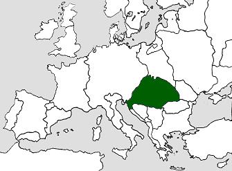 15世紀終わり頃のハンガリー王国の版図