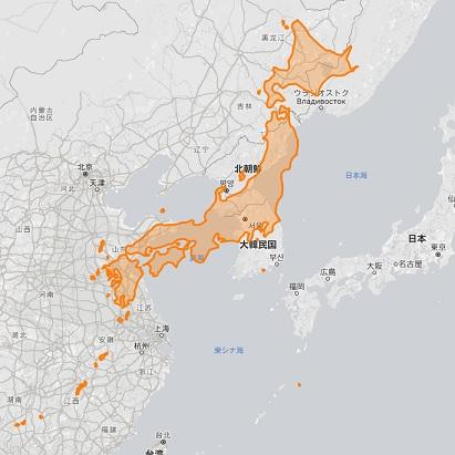 日本 朝鮮 地図