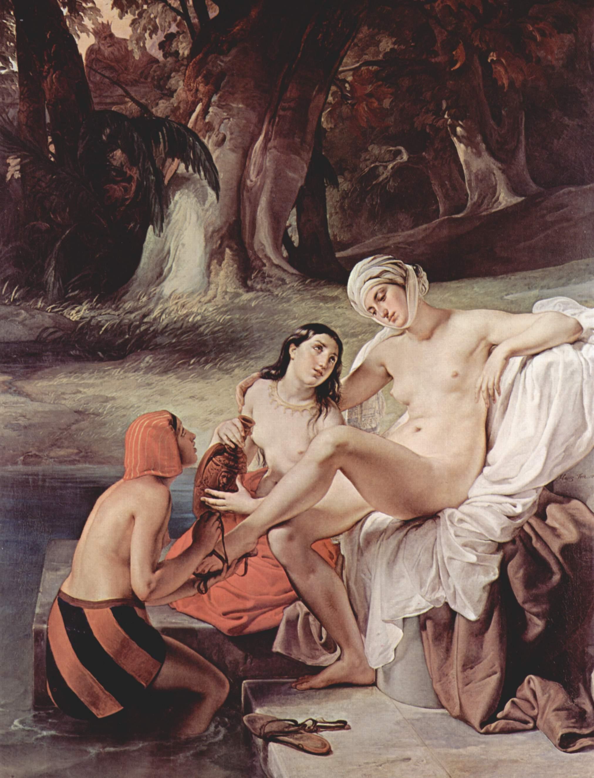 フランチェスコ・アイエツ『入浴するバテシバ』1834年
