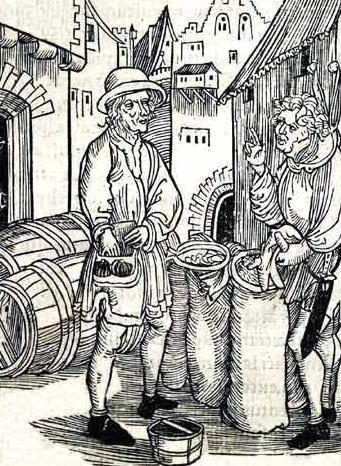 高利貸し(『阿呆船』の挿絵で、アルブレヒト・デューラーによる木版画)