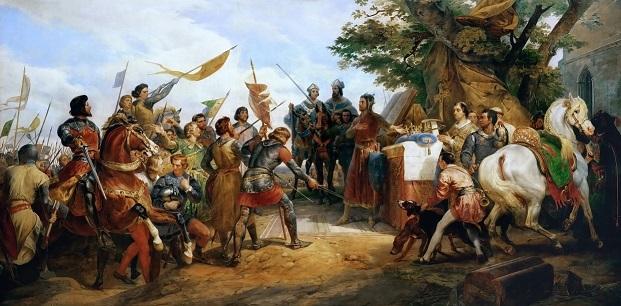オラース・ヴェルネ 『ブーヴィーヌのフランス王フィリップ2世』