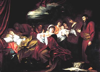 ベンジャミン・ウエスト『イサクとヤコブの誕生』