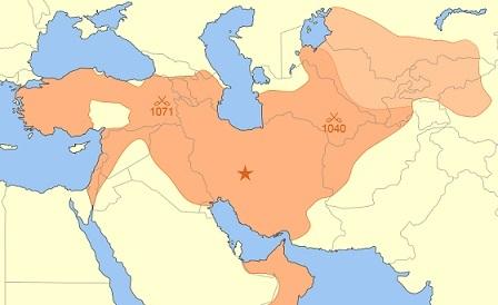 セルジューク帝国の最大版図(1092年)