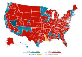 The_Election_House_of_Representatives_2016 州ごとの下院での議席獲得状況