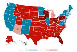 The_Election_President_2016 州ごとの選挙人の獲得状況