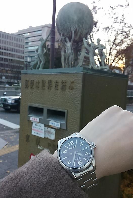 ポストとセイコー(SEIKO) 機械式腕時計 メカニカル SARG009