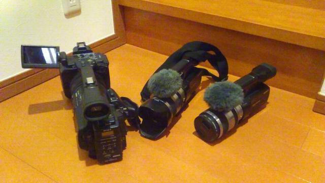 業務用HDカメラと民生用レンズ交換式カメラ