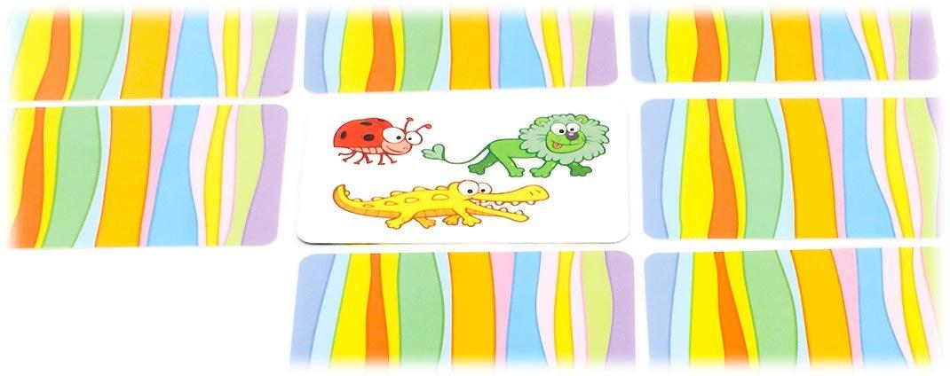 フレディの色さがし:めくられたカード