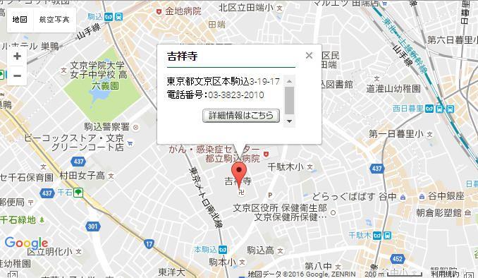 吉祥寺の 位置MAP