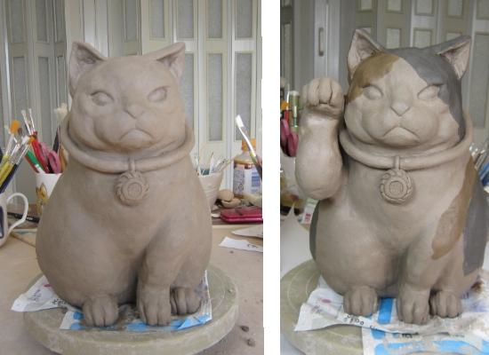 陶器のどら猫の作り方3 すず音窯