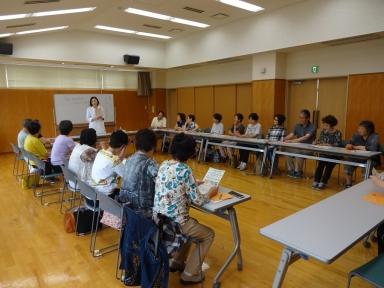 卓話と料理実技の健康教室