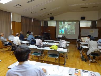 大聖寺城跡のビデオ鑑賞で研鑽