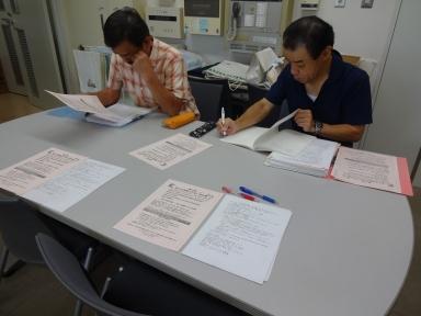 福田部長・水井副部長と文化祭で打ち合わせ会