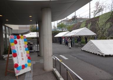 文化祭のテント等の設営を