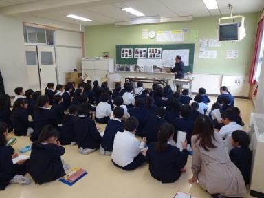 田上小4年生と金浦用水を学習