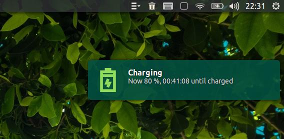 Battery Monitor Ubuntu ノートパソコン バッテリー 充電の通知