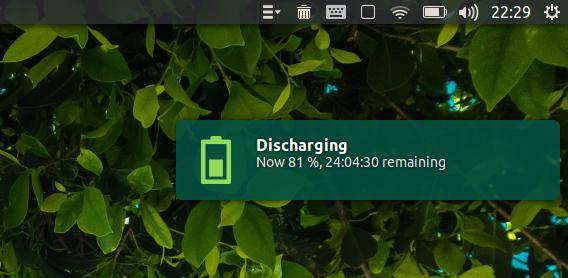 Battery Monitor Ubuntu ノートパソコン バッテリー 放電の通知
