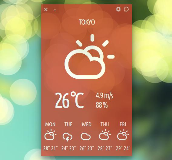 Cumulus Ubuntu 天気アプリ