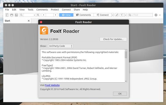 Foxit Reader Ubuntu 16.04 PDFリーダー