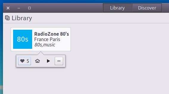 Gradio Ubuntu インターネットラジオ ライブラリ