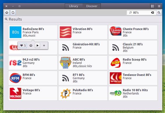 Gradio Ubuntu インターネットラジオ ラジオ局の検索