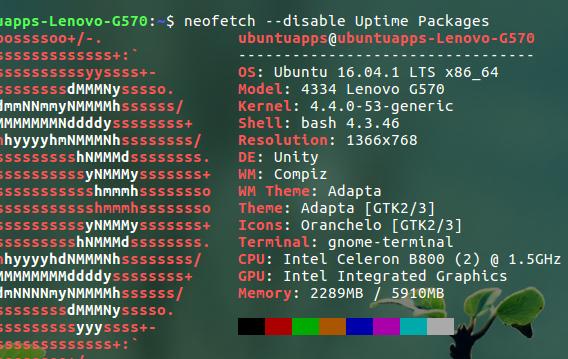 Neofetch Ubuntu システム情報 コマンド オプション