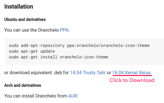 Oranchelo Icon Theme Ubuntu アイコンテーマ Debパッケージ ダウンロード