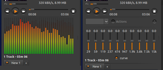 Sayonara Player 0.8.3 Ubuntu 音楽プレイヤー パーツの変更