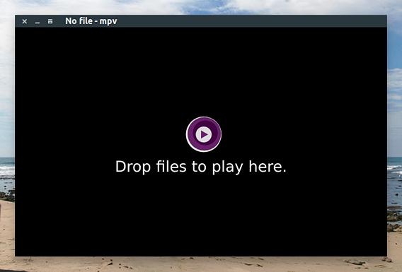 mpv Media Player Ubuntu 動画プレイヤー 軽量